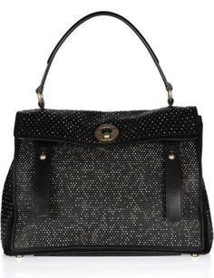 50 Dream Handbags: yves saint laurent muse two medium leather and suede tote, $2,695 #handbags, #handbags galore, #purse, #shoulder bag, #evening bag, designer bags,