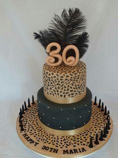 Animal Print Cake Torta Party Prints Leopard
