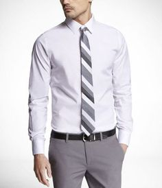 1MX TALL EXTRA SLIM FIT STRETCH COTTON SHIRT at Express