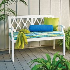 Place this classic garden arm bench in your yard, garden, or on your patio as extra seating. Available in 3 finishes and weather resistant for outdoor use.