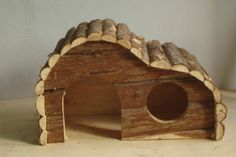 wooden rabbit house