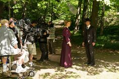 Murdoch Mysteries. I love Julia's purple dress.