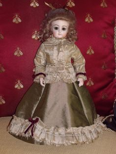 French Antique Reproduction Doll F G French Fashion Doll Jumeau Bru | eBay