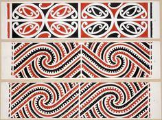 Williams, Herbert William :Designs of ornamentation on Maori rafters. Maori Patterns, Textile Patterns, Abstract Sculpture, Sculpture Art, Metal Sculptures, Bronze Sculpture, Maori Designs, Tattoo Designs, Polynesian Art