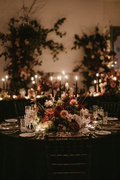Moody wedding centrepieces paired roses and cosmos along with fall foliage, Spanish moss, fruits and pumpkins. Floral Wedding Decorations, Floral Centerpieces, Wedding Centerpieces, Wedding Table, Rustic Wedding, Wedding Flowers, Centrepieces, Chocolate Cosmos, Pumpkin Wedding