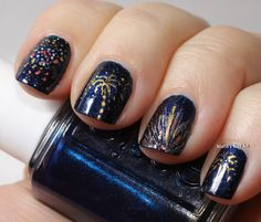 nail art designs for new years eve - Google Search