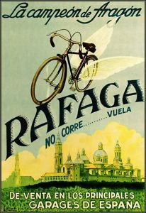 Spanish Rafaga cycle poster