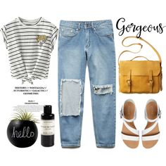 Striped Shirts by nastya-d on Polyvore featuring Forever 21, ALDO, Mad et Len, Toast and stripedshirt