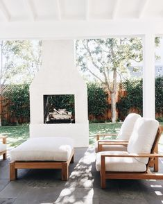 Dress up your backyard patio with some gorgeous outdoor fireplace seating ideas . - Outdoor Kitchen Bars about you searching for. Fireplace Seating, Backyard Fireplace, Fireplace Ideas, Fireplace Outdoor, Brick Fireplaces, Porch Fireplace, Outdoor Fireplace Designs, Fireplace Mantle, Outdoor Spaces