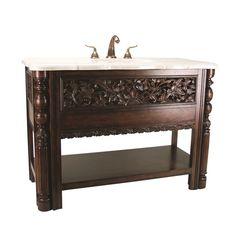 BALINESE SINK CHEST - Ambella Home #Sinkchests #bathroom #Vanity