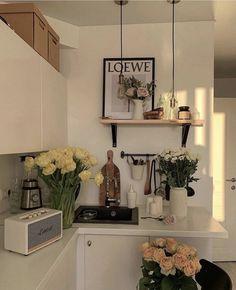Interior Design Minimalist, Dream Apartment, Apartment Interior, Studio Apartment, Kitchen Interior, Aesthetic Room Decor, Dream Rooms, My New Room, House Rooms