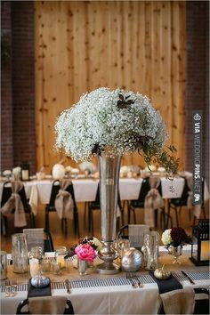 centerpieces by Munster Rose   CHECK OUT MORE IDEAS AT WEDDINGPINS.NET   #wedding