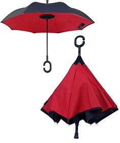 Reverse Inverted Windproof Flamingo Witg Tropical Leaves Palm Tree Umbrella Upside Down Umbrellas with C-Shaped Handle for Women and Men Double Layer Inside Out Folding Umbrella