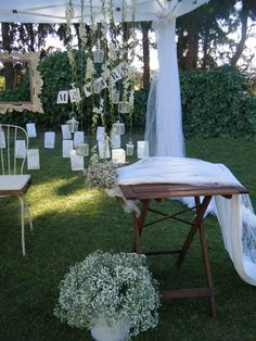 Baby's breath, hanging orchids and lace Shabby Chic Wedding Decor, Greece Wedding, Gypsophila, Baby's Breath, Party Accessories, Color Themes, Countryside, Wedding Bouquets, Orchids