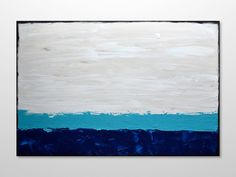 Large Original Abstract Seascape Textured Painting by gilliansarah, $329.00