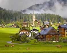 17 Unique Places Around the World  I didn't know there were places that still look like this beautiful green grass the land is spacious. The homes are not built on top of each other. Damn this is a beautiful place.