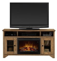 Dimplex DFP25L5-1526GO Walker Media Console Electric Fireplace with Logs - OxfordAveFireplaces.com