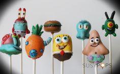 SPONGEBOB & Friends cake pops by SUSYPOPS