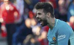 Enfado de Piqué tras el arbitraje de Villarreal