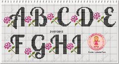 Delicado Cantinho: Monograma Florzinhas