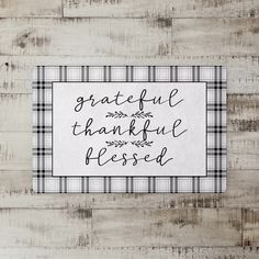 Gracie Oaks Add style and flair to your space. It is sure to bring the joy of the season to your room. Thankful And Blessed, Grateful, Mat Online, Table Runner And Placemats, Gift Card Sale, Christmas Storage, Kitchen Mat, Traditional Furniture, Design Quotes