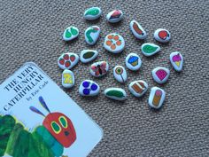 Story Stones perfect for learning to read and counting! #preschool #educational #learning #storystonesbylou