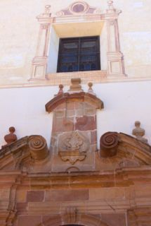 Traditional decorative painting on San Felipe Neri Church, Malaga City Andalusia