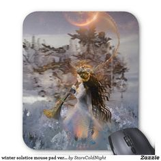 mouse pad winter solstice by starscoldnight #fairy #fantasy #art #goddess