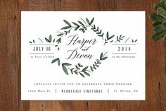 Floral Wreath Wedding Invitations by Kelly Schmidt at minted.com