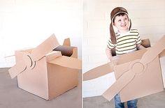 Cute cardboard box airplane