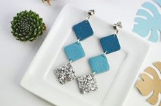 Leather stud earrings  Long earrings  Leather earrings and #diystudearringsfun