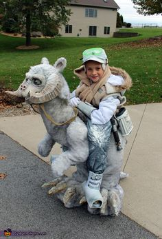 This year our challenge for a homemade Star Wars Halloween costume was to try and make Luke Skywalker riding on a Tauntaun.
