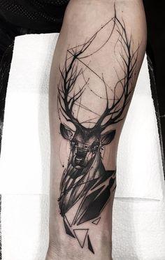 Deer forearm tattoo - 45 Inspiring Deer Tattoo Designs