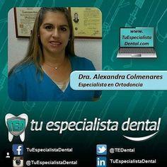"""El Mejor Tratamiento de #Ortodoncia lo ofrece Nuestra Dra. Alexandra Colmenares quien te hará lucir la Mejor de las #Sonrisas gracias a su #Conocimiento y #Trayectoria. Cuenta con sus servicios en el CCCT - Caracas haciendo tu cita en www.tuespecialistadental.com seleccionando la Categoría """"Ortodoncia""""  """"Caracas"""" en el Buscador. #OralSurgery #DentalSurgery #Sonrisa #TratamientoDental #SaludDental #SaludBucal #SaludOral #Salud #Dientes #Tooht #Teeth #Odontología #DientesApiñados…"""