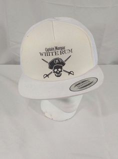 aba414a683a Captain Morgan White Rum Advertising Snapback Trucker Mesh Hat Cap New  Captain Morgan