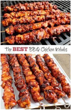 The Best BBQ Chicken Kebabs This isn't your ordinary barbecue chicken. In fact, these BBQ Chicken Kebabs are the best barbecue chicken I've tasted. The post The Best BBQ Chicken Kebabs appeared first on Womans Dreams. Best Bbq Chicken, Chicken On The Grill, Barbeque Chicken Grilled, Grilled Chicken Skewers, Chicken Skewers In Oven, Korean Bbq Chicken, Chicken On A Stick, Sticky Chicken, Chicken Nachos