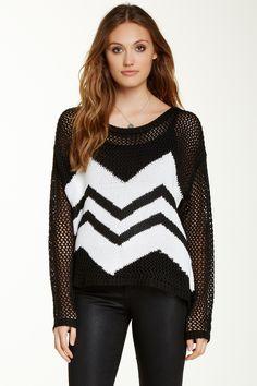 Black & White Chevron Sweater