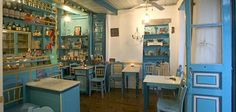 Kafeneio Coffee Places, Cafe Restaurant, Kitsch, Islands, Restaurants, Shops, Products, Greece, Cafes