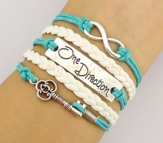 Infinity, One direction bracelet, Key charm bracelet, gift for girl friend, boy friend - friendship bracelet - bridesmaid gift on Etsy, $5.99
