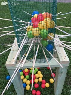 You are viewing giant kerplunk this set is perfect for parties, company functions, holiday events, weddings and even just by the camp fire. Kit Stand made sturdy fur pine and measures 2 1 2 feet ( Fun Games, Party Games, Games For Kids, Spy Party, Camping Activities, Summer Activities, Family Activities, Camping Games, Camping Tips