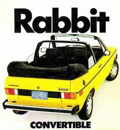 1982 convertible volkswagen rabbit [want]  || 1980s VW German Engineering