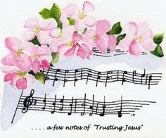 FLORAL ON SHEET MUSIC by Linda Douglas