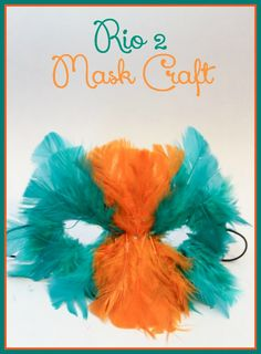 Rio2 Mask Craft For Kids: Feather Mask