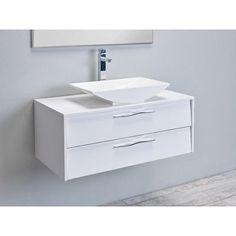 "Eviva Zenvi 39"" Single Modern Bathroom Vanity Set Base Finish: White"