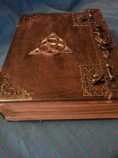 Book of Shadows Altar COVEN'S Book of Shadows Rustic Book of Shadows old spells Witch Book antique style Old book blessing by CountryPinecones on Etsy Altar, Pentacle, Rustic Books, Witch Coven, Real Witches, Bound Book, Leather Books, Old Books, Book Binding