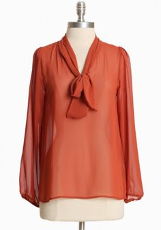 So ladylike. This one would be nice for presenting at a conference. I used to have a top like this in this exact color that I loved. V. flattering too.