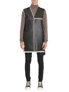 RICK OWENS Giacca In Pelle E Shearling. #rickowens #cloth #coats-jackets