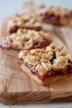 Peanut Butter and Jelly Bars. Easy strawberry jelly recipe too.