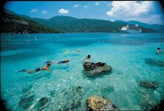Labadee Haiti - a big tourist attraction in Haiti. You can see why, the water is just beautiful! This is one of the places in Haiti where cruise ships travel. Cruise Destinations, Vacation Places, Cruise Vacation, Dream Vacations, Vacation Spots, Places To Travel, Places To See, Vacation Ideas, Family Vacations