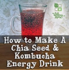 This chia seed and kombucha mixture provides a big energy boost, a lot of nutrients and vitamins and great taste!